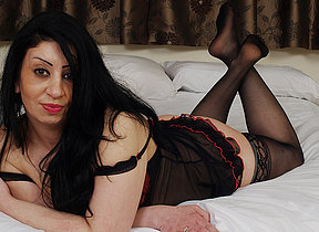 Hot British MILF getting naked and naughty