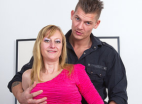 Horny missis fucking her toy boy