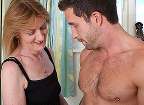Horny mature mom fucking the dude next door