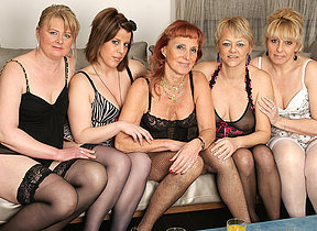 Welcome to a sexy old and young lesbian party