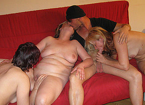 This dude gets all the fun at the mature sexparty