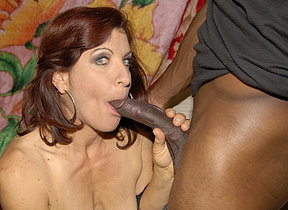This horny mature hussy loves her cocks to be black