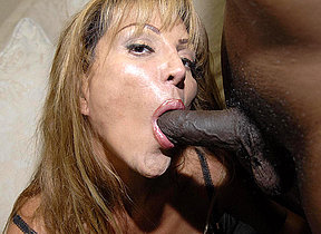 Yhis kinky mom loves those two black cocks