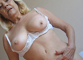 Blonde mature mom gets nasty with toys