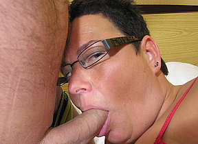 This stocky MILF loves a hard cock