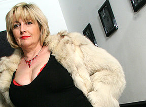 Big breasted mama sucking dick and getting cum