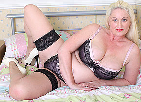 Hot British big titted housewife gets horny as hell