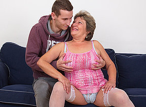 Mature granny loves boys