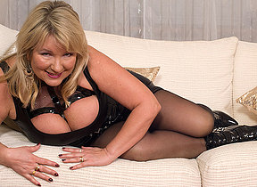 British big titted missis goes wild