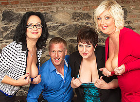 Three horny housewives share a boyfriend