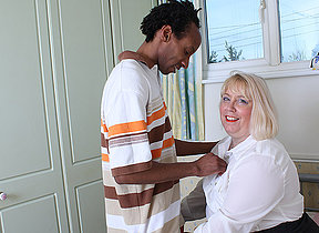Horny British housewife gets fucked by her black lover