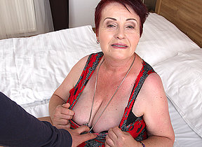 BBW hairy mature lady getting fucked in POV style
