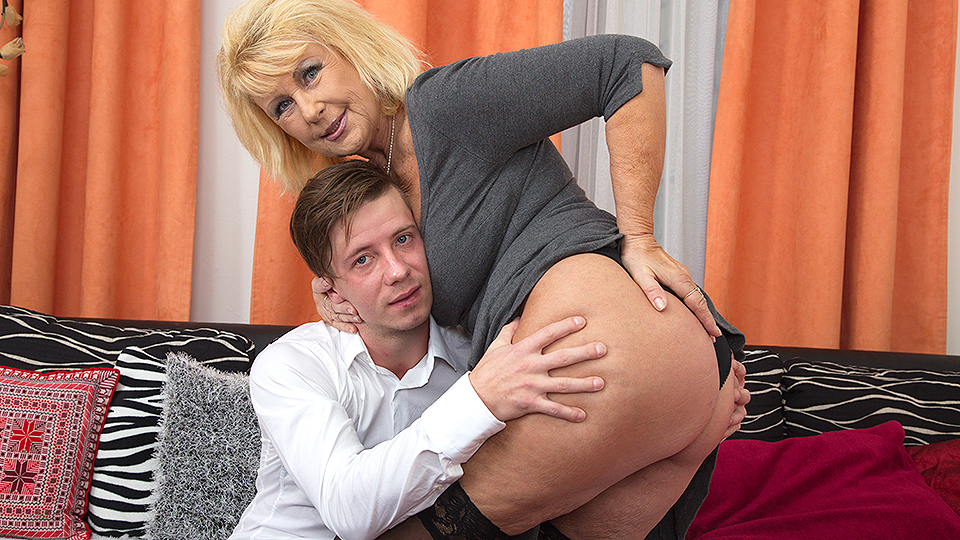 Blonde milf and her toyboy