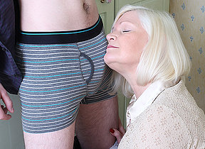 Big British missis playing with her toy boy
