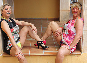 Two German hostess getting really kinky and naughty