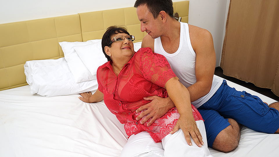 Bbw granny and boy