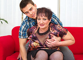 Fat mature lady fucked by her toy boy