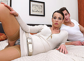 Sexy MILF fucking and sucking her toy boy