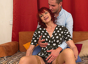 Naughty housewife having fun with the guy next door