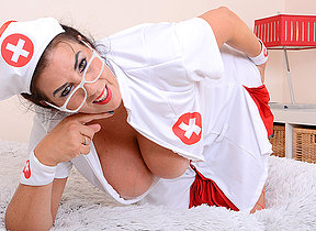 Big titted Lulu playing as nurse for you temperature