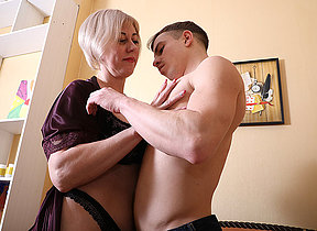 Horny mature with 2 boys