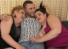 Two dirty hostess share a big cock in this sexy threesome