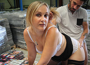 Sexy French Milf is fucked in the brush pussy with the addition of close by the brush ass