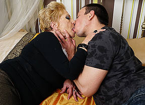 Horny grandma sucks their way toyboys horseshit and gets fucked eternal